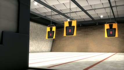 Indoor shooting range.