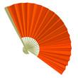 traditional Folding Fans. Vector illustration.