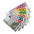 Geldfächer aus Euroscheinen
