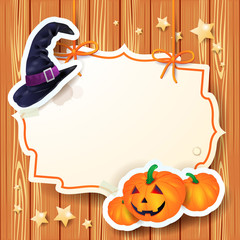 Halloween background with label