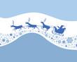Congratulatory card with Santa Claus