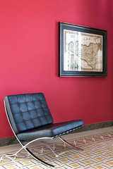 Leather armchair black