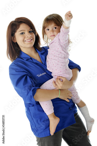 Holding a Young Patient