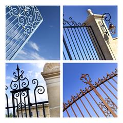 Portail, grille, fer forgé, ferronnerie, entrée, parc, palais