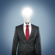 Anzug mit Energiesparlampe
