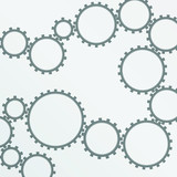 Gear-wheel background vector