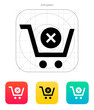 Shopping cart delete icon.