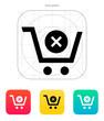 Shopping cart delete icon.