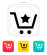 Shopping cart with favorites item icon.