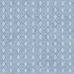 Blue Honey Comb Shape Fabric Background