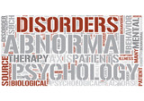 Abnormal psychology Word Cloud Concept