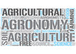 Agronomy Word Cloud Concept