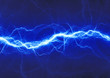 canvas print picture - blue fantasy lightning