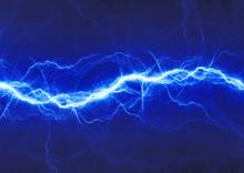 """Постер, картина, фотообои """"blue fantasy lightning"""""""