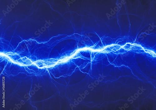 canvas print picture blue fantasy lightning