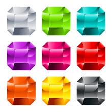 Färgglada glänsande juveler
