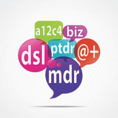 bulles concept : chat & internet acronyme (français)