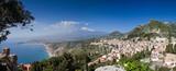Panorama of Taormina with the Etna Volcano