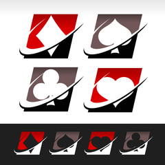 Swoosh Poker Icons