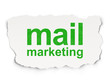 Advertising concept: Mail Marketing on Paper background