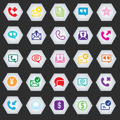 Icon set vector illustration collection