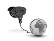 Video surveillance camera and earth globe