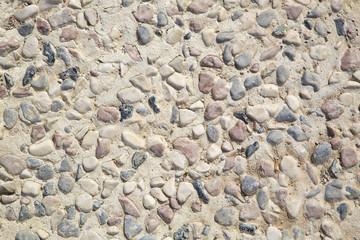 Texture di pietre e sabbia