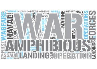 Amphibious warfare Word Cloud Concept