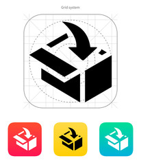 Loading in box icon.