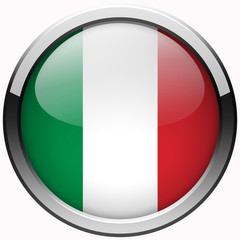 italy national flag gel metal button