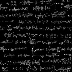 Seamless background of many formulas.