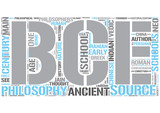 Ancient philosophy Word Cloud Concept