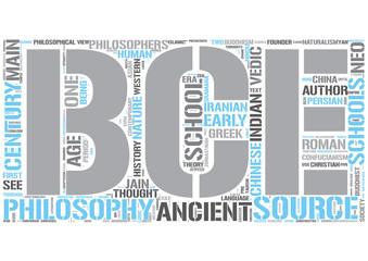 Ancient philosophy Word Cloud Concept