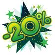 20%, réduction, solde, remise, ristourne, commerce, vente