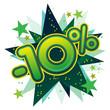 10%, réduction, solde, remise, ristourne, commerce, vente