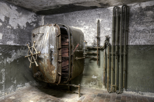 Old rusty laundry machine
