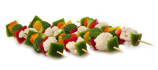 Brochetas de verdura