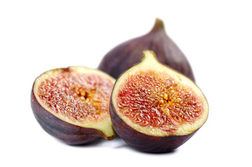 Figs on white background