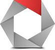 Hexagon folded figure