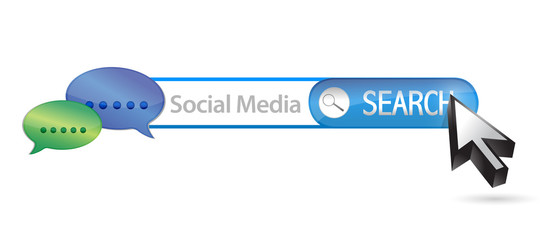 social media search bar illustration design
