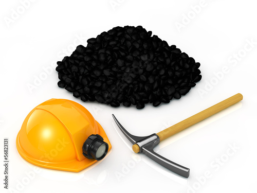 Mining equipment and coal