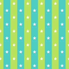 Retro polka star blue green seamless background