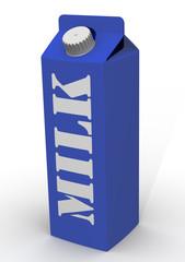 Бутылка молока на белом фоне