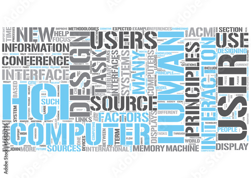 Human-computer interaction Word Cloud Concept