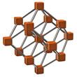 Illustration of orange molecular structure