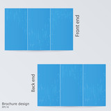 Blue brochure template design. Layout brochures, digital matrix