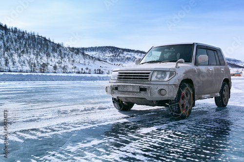 Jeep on the ice