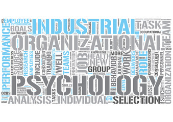 Industrial and organizational psychology Word Cloud Concept