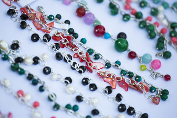 Handmade colorful necklaces