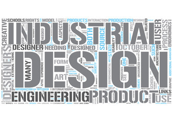Industrial design Word Cloud Concept